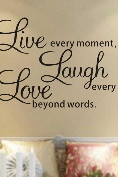 Wall Decal Quotes - S5Q DIY Live Laugh Love Quote Vinyl Decal Removable Art Wall Stickers Home Decor AAABPY