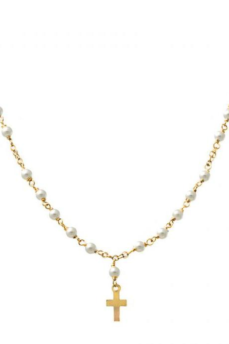 Miley Cyrus Petit Pearl Rosary Necklace