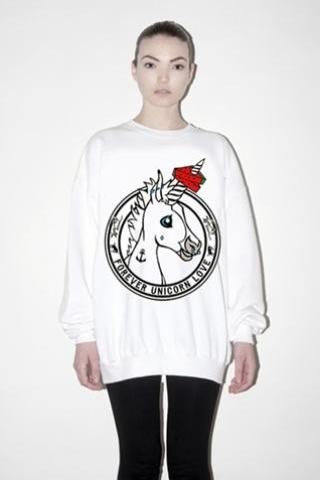 2014 Harajuku For Ever Unicorn Sweatshirt Jumper