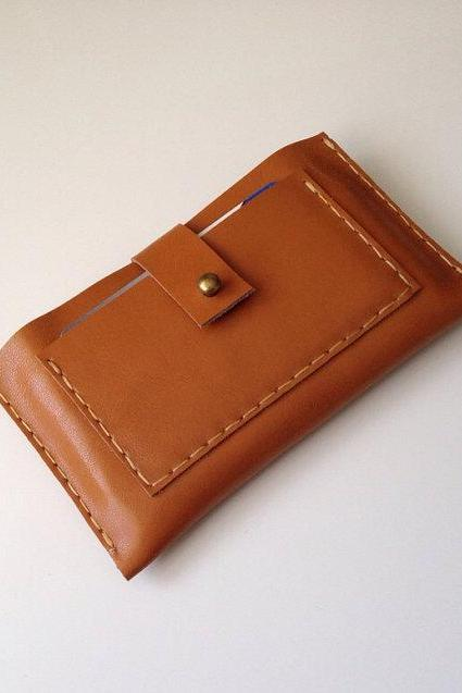 Natural Tan Leather Cellphone Case