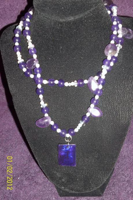 I love Purple! Necklace
