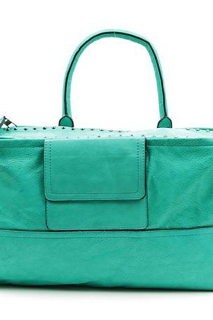 Scuba Blue Handbag. Green Teal Handbag.