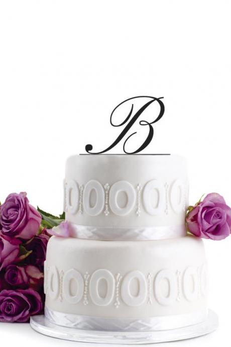 Wedding Cake Topper Initial Wedding Decoration Cake Decor - Monogram Cake Topper - Personalized Cake Topper