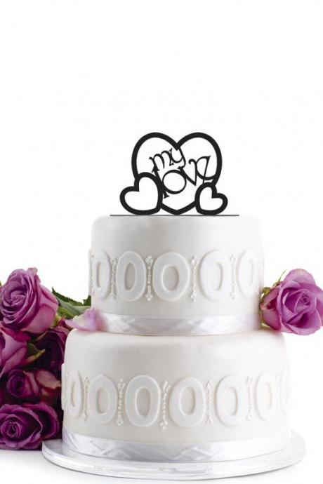 Anniversary Cake Topper - Wedding Cake Topper - Initial Wedding Decoration - Cake Decor - Personalized Wedding Cake Topper - Monogram Cake Topper