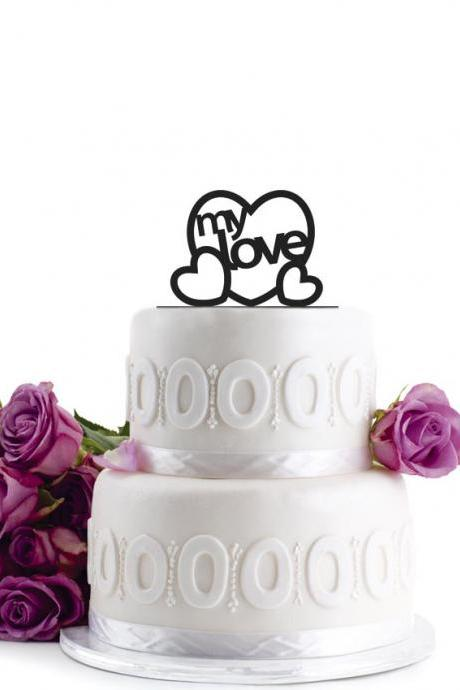Anniversary Cake Topper - Wedding Cake Topper - Initial Wedding Decoration - Cake Decor - Personalized Wedding Cake Topper - Monogram Cake Topper - Anniversary Cake Topper - Birthday Cake Topper