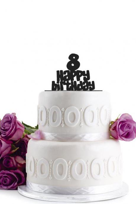 Birthday Cake Topper - Wedding Cake Topper - Initial Wedding Decoration - Cake Decor - Personalized Wedding Cake Topper - Monogram Cake Topper - Anniversary Cake Topper