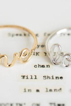 love letter Ring - Silver/gold/Rose Gold