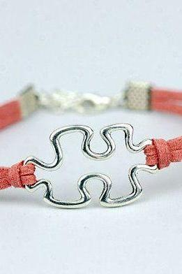 Puzzle Charm Bracelet - friendship bracelet Autism Awareness bracelet