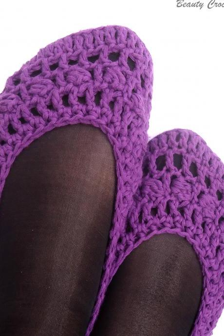 Women's Purple Crochet shoes pattern, Crochet Slippers Pattern,Teen Slippers Pattern,Women Houseshoes Pattern