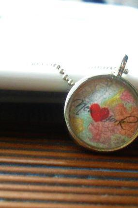 New York City Map Necklace
