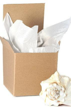 20 Plain Brown Kraft Box. 4x4x4. Pinstripe finish. Supplies for Wedding party favors, gift wrap, organization, packaging