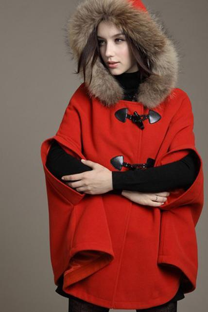 Faux Fur Design Fashion Coat