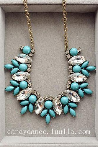 Luxury Aqua Necklace statement necklace