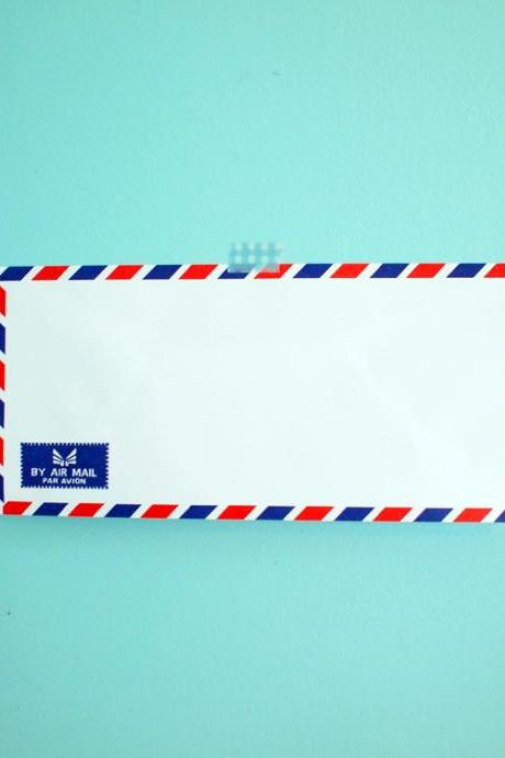 Airmail Envelope, set of 20, BY AIR MAIL PAR AVION