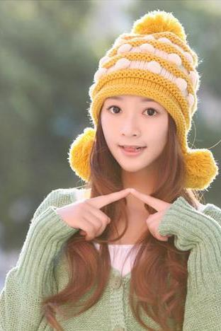 Hot Selling,Autumn And Winter Women's Knitted Hat