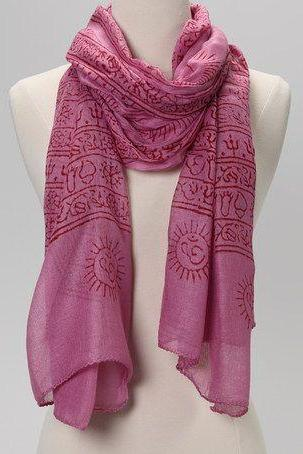 OM Prayer Shawl in BERRY
