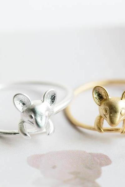 Character mouse ring,jewelry,ring,mouse ring,mice ring,animal ring,adjustable ring,cute mouse ring,stretch ring,wrap ring,unisex ring,R242N