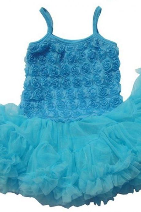 Blue Tutu Dress Spaghetti Dress for Girls