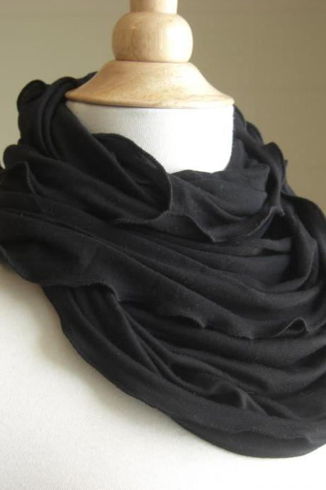 Infinity Scarf Black Jersey