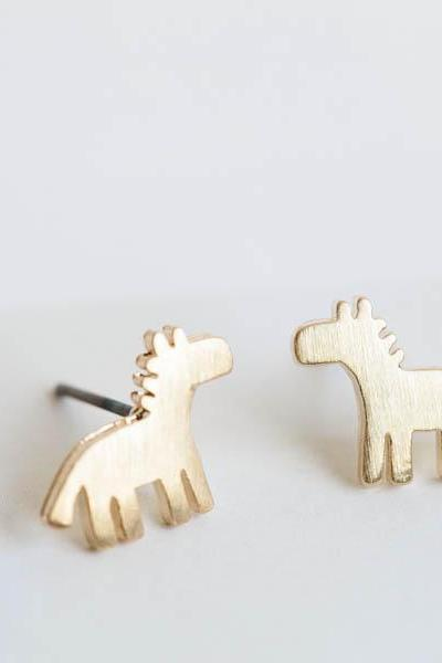 Cute dalahorse earring,Jewelry,Earrings,Post,dala horse,Swedish Dala horse,animal earring,horse lover,bridesmaid gift,horse earrings,E801R