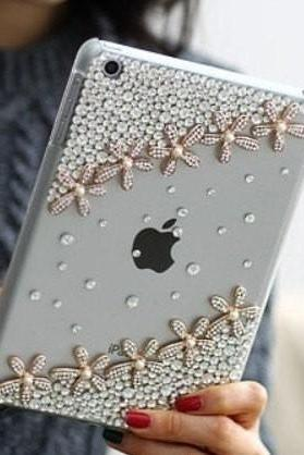 Ipad mini case floar ipad 2 case bling ipad 3 case cover ipad 4 case cover custom ipad case ipad2 cover ipad3 case ipad mini cover case