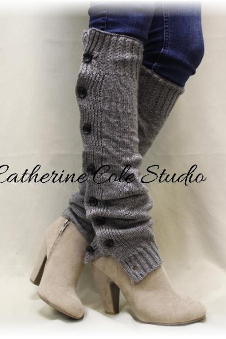 fff5a4495a6 HEAVENLY HEATHER Silver Leg warmers boot button down leg warmers legwarmers  lace leg warmers womens knit