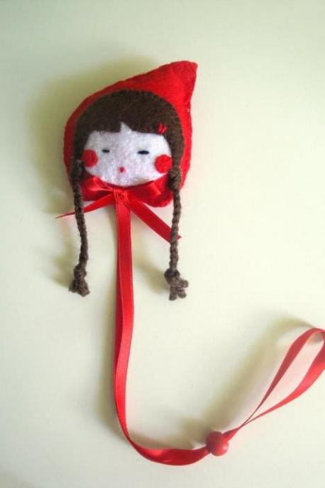 Red Riding Hood hair clips holder