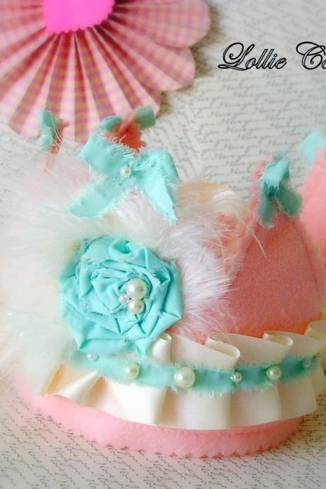 Mint Princess Photo Prop Birthday Crown
