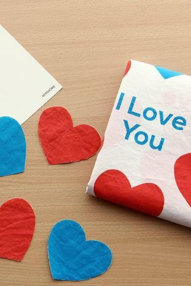 Illustration Design Fabric 'Love Love'