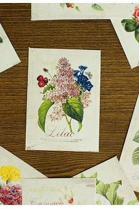 Label Sticker Pack - Flower (52 Pieces Package)