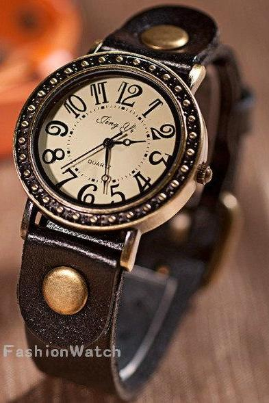Leather Watch, Men Watch,leather wristwatch handmade watch,Best Gift Watch
