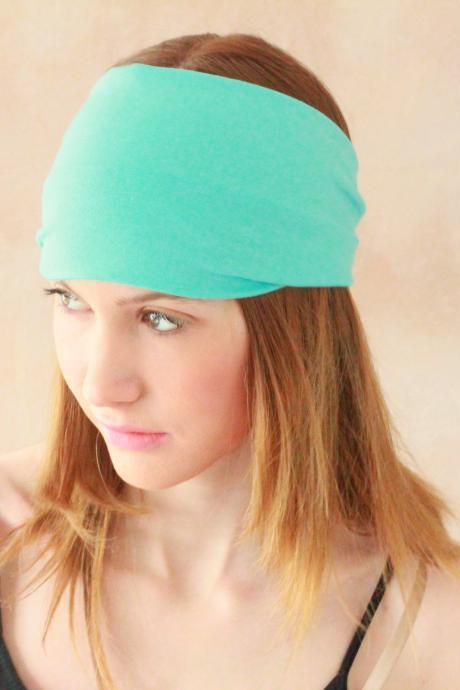 Workout headband, Fabric Headband, Exercise headband, Stretchy Headband, Sweatband, Boho Headband, Hippie Headband, Hairband - Blue