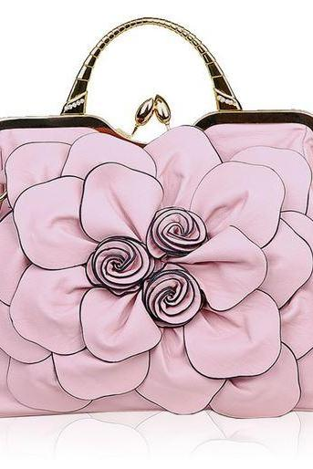 Pink Leather Shoulder Bags for Elegant Women with Elegant Character