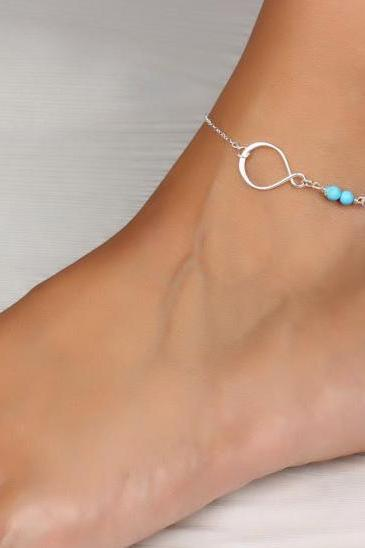 Infinity Anklet, Anklets, Silver Plated Infinity Anklet, Accessories