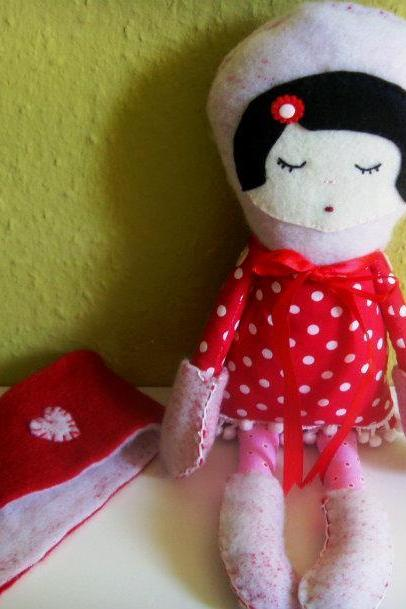 Winter doll in polka dots