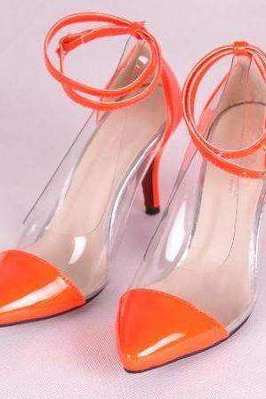 Dress Shoes Transparent Shoes High Heel 2013 High Quality Black Yellow Pink