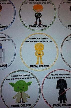 Star Wars Favor Tags