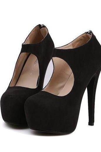 Cute High Heel Fashion Pumps in Black