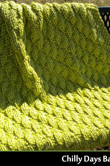 Chilly Days Baby Blanket Knitting Pattern