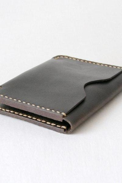 Slim Leather Wallet, Leather Card Case, Credit Card Holder, Mens Slim Wallet, Gift idea for him / Retro Brown