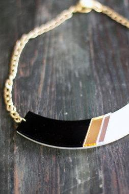 Black Geometric Statement Necklace,Choker,Plexiglass Jewelry,Geometric Jewelry, Lasercut Acrylic