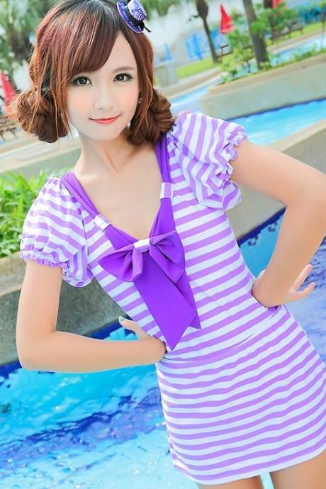 Lovely Girl Swimsuit Swimwear one-piece bathing suit Bikini