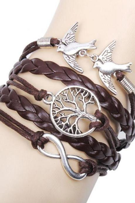 Life Tree Infinite Bird Vintage Bracelet