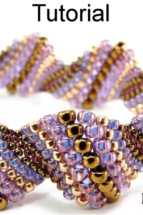 Beading Tutorial Pattern Bracelet - Increase Peyote Stitch - Simple Bead Patterns - Neptunia #5084