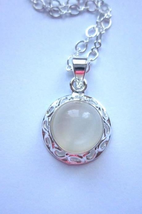 Natural Moonstone Gemstone Necklace