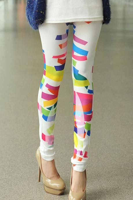 Cute Multi Colored Leggings