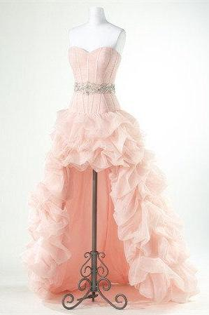 Enhancing Ball Gown Sweetheart Asymmetrical Beaded Prom Dress