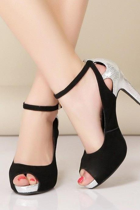 Fashion classic leather high heels
