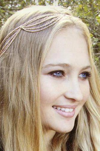Bohemian Layered Metallic Gold Hair Band