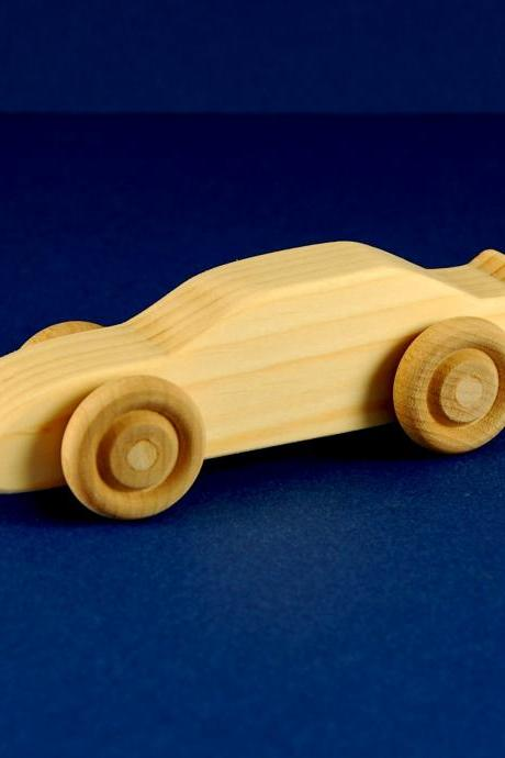 Race Car Party Favors - Package of 10 Wood Toy Race Cars